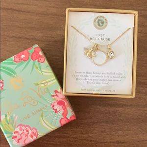 Spartina Just Bee-Cause Necklace: 18 kt gold